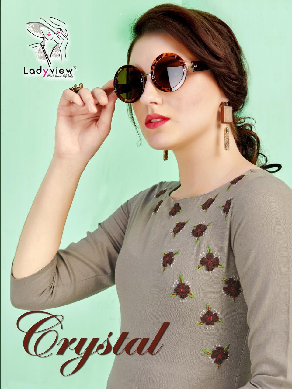 Ladyview Crystal Straight Kurti Full Catalog