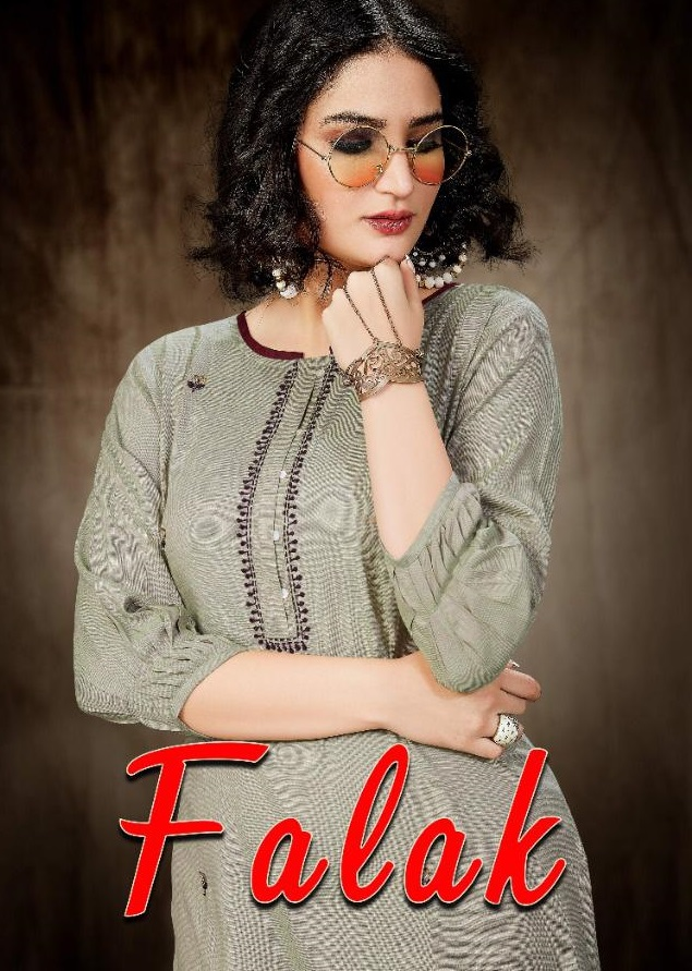 Falak Heavy Premium Different Types Of Reyon Straight Kurti Catalog