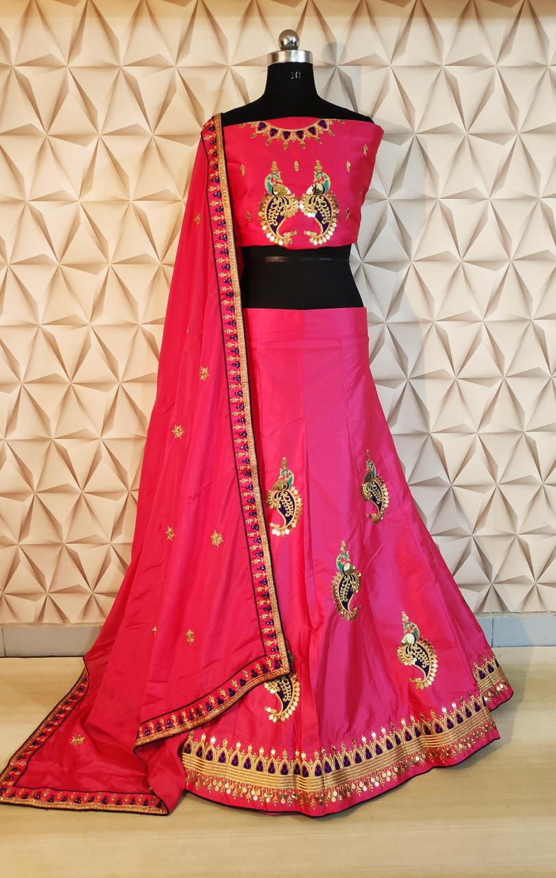 Designer Heavy Embroidered Lehenga At Wholesale Rate