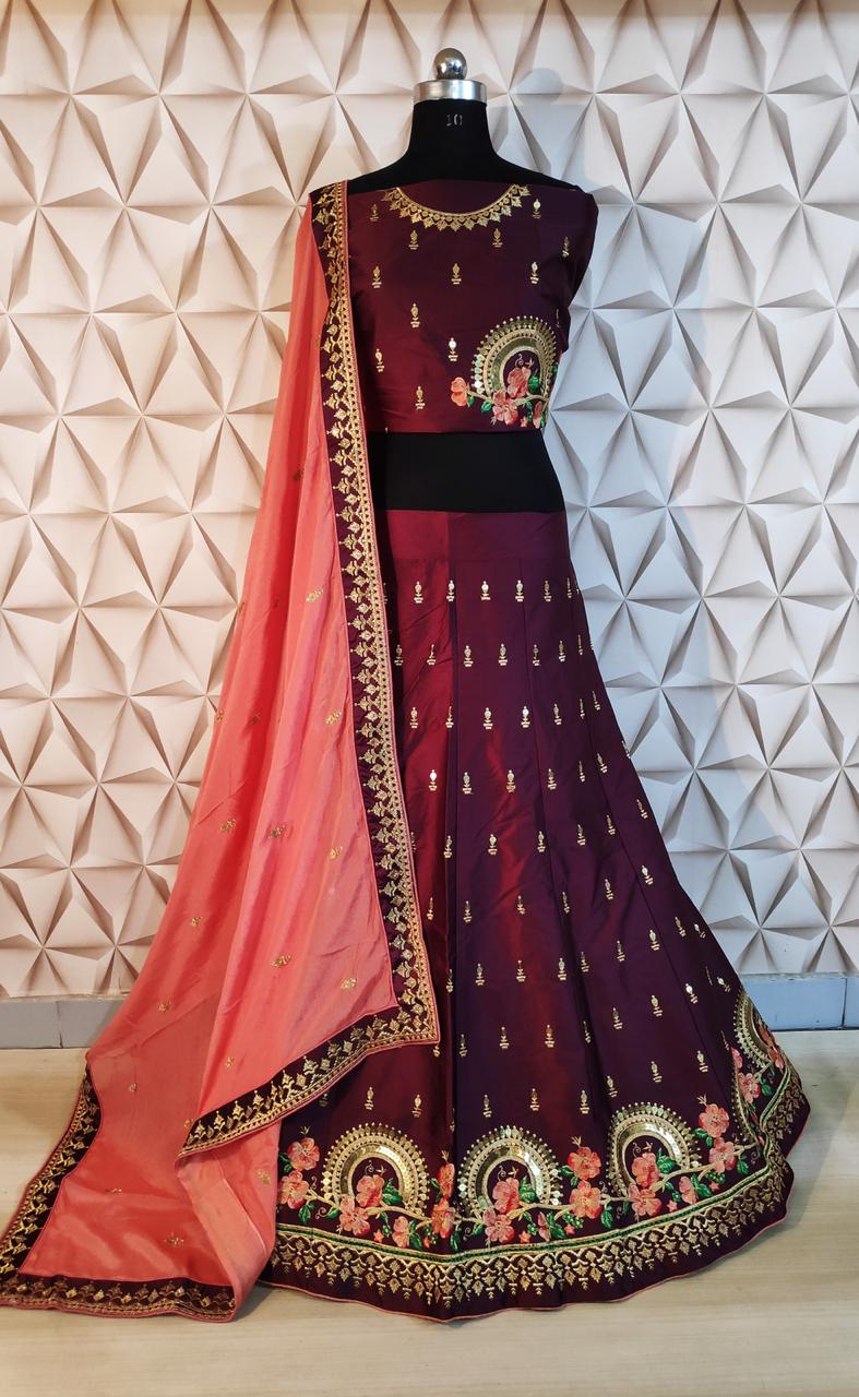 Designer Woman Wear Heavy Lehenga By Wholesale Rate