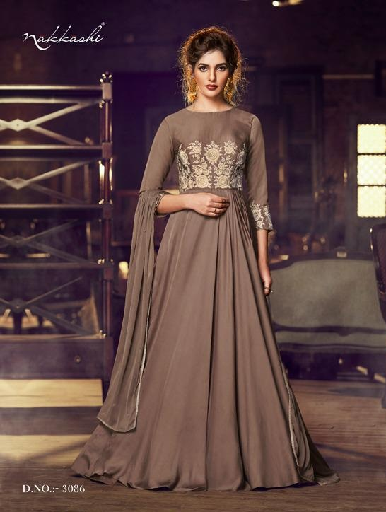 Nakkashi Present Designer Gown Collection at Wholesale rate