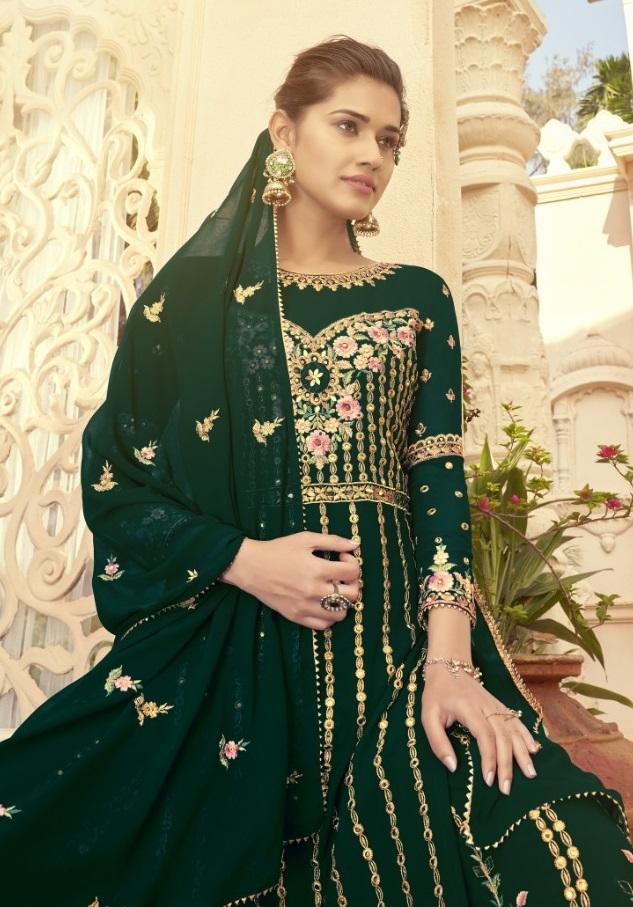 Alisa Present New Glazo Sarara Designer Wedding Salwar Suit Catalog Collection