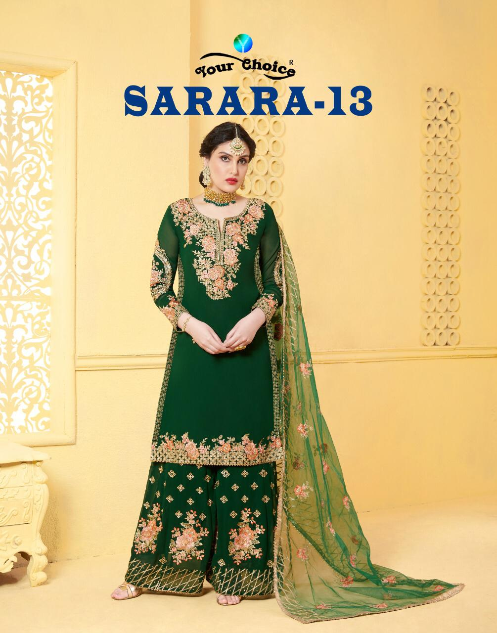 Your Choice Sarara 13 Designer Heavy Georgette Salwar Suit Catalog Collection
