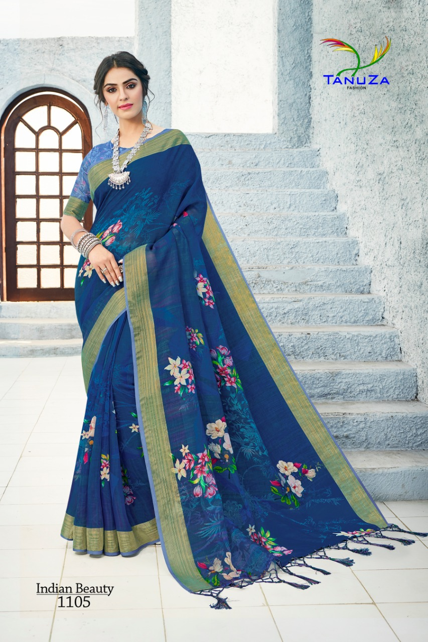 Tanuza Fashion Indian Beauty 6 Digital Print And Trendy Design Saree Collection