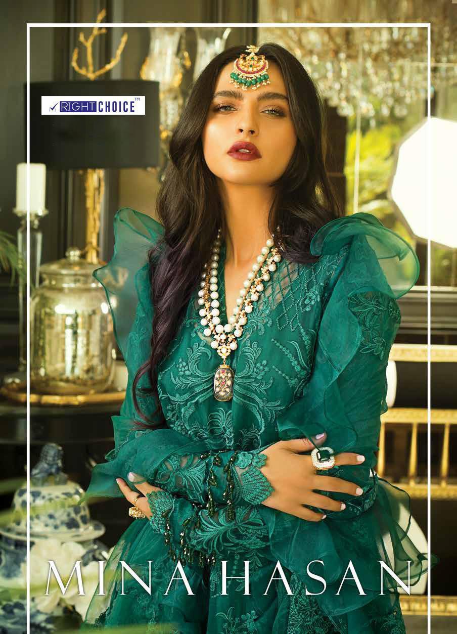 Right Choice Present New Exclusive Mina Hasan Salwar Kameez Catalog Collection