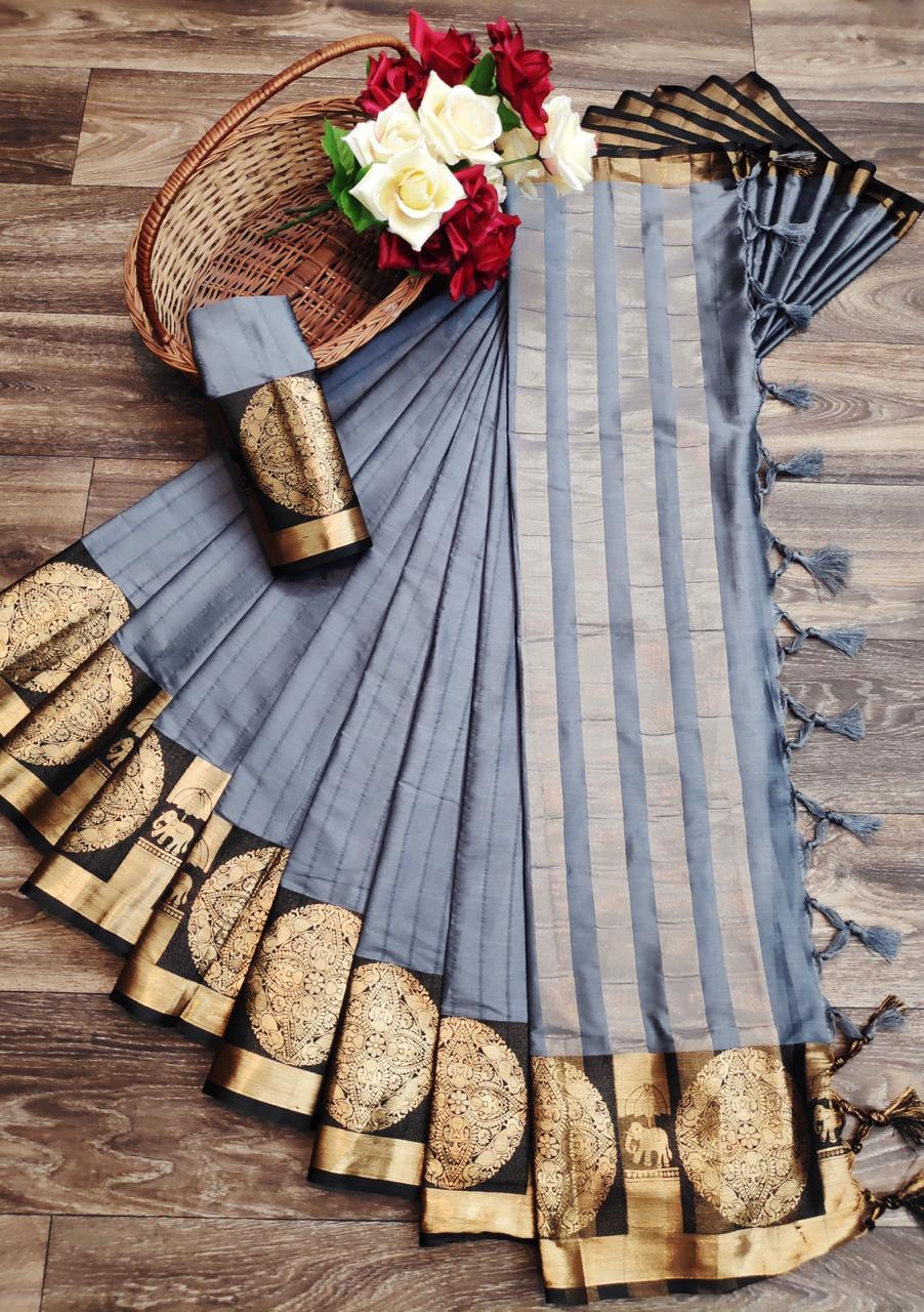 Elephant Premium Soft Cotton Silk Saree Collection