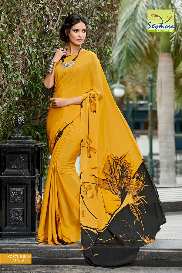 Seymore Prints All Time Hit Evergreen Most Selling Crepe Printed Saree Collection
