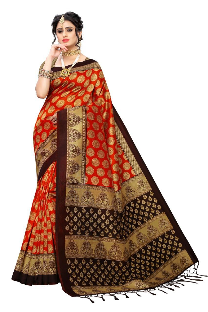 Mysore Silk Printed Saree Collection