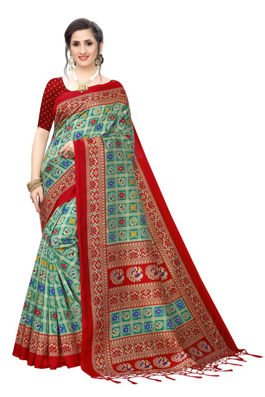 New Mysore Silk Printed Saree Collection