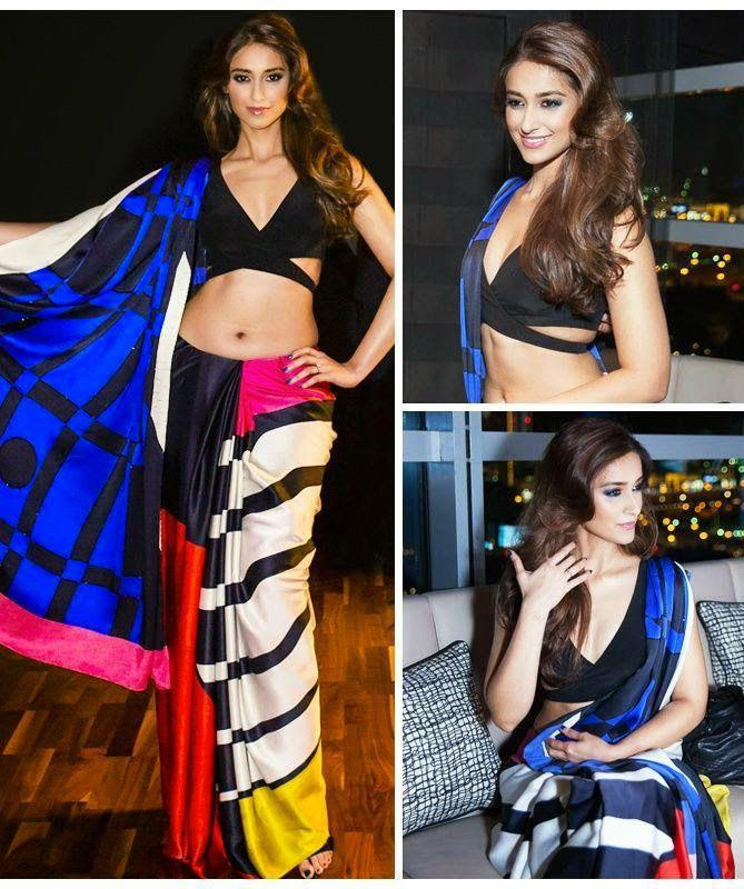Bollywood New Printed Designer Party Wear Ultra Satin Multi Color Printed Saree Collection