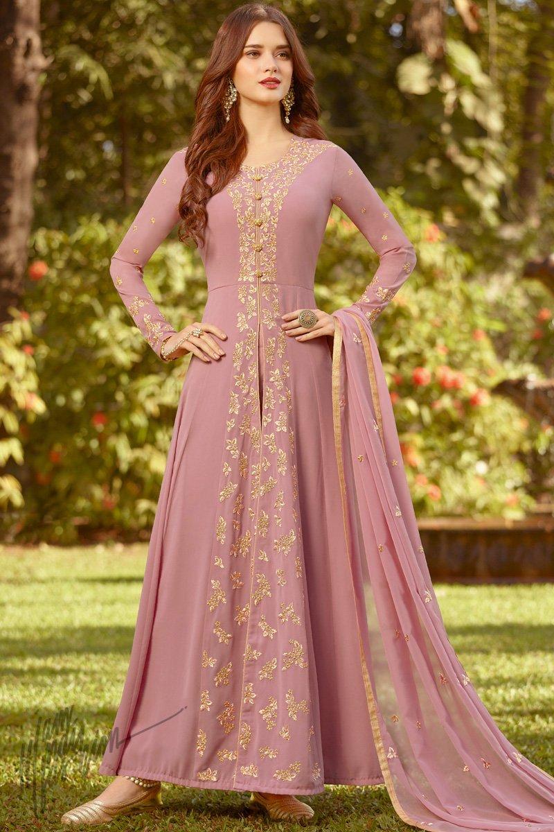 Rama Raji Fox Georgette Long Partywear Salwar Suit Collection