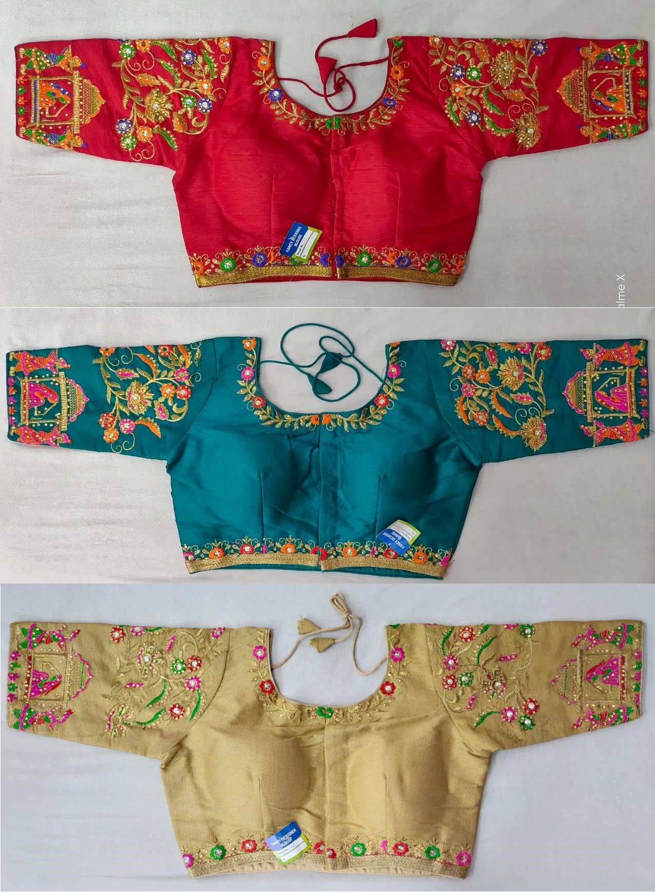 Heavy Fantom Cloth With Tread Work And Diamond Handwork Blouse Collection