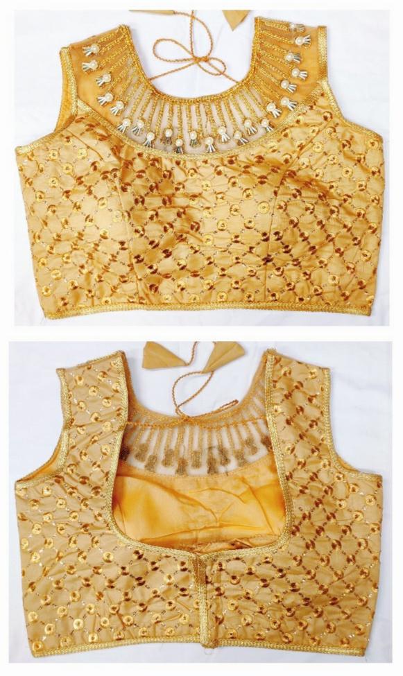 Khatli Work Ready Made Fully Stitched Blouse