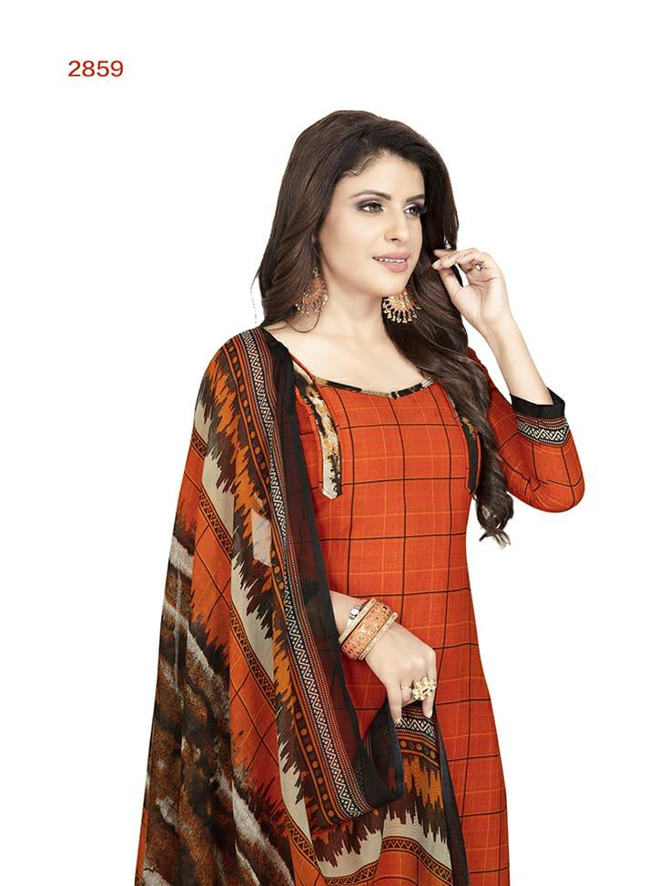 Leon Crape Pick And Choose Different Design Unstitched Dress Material Collection