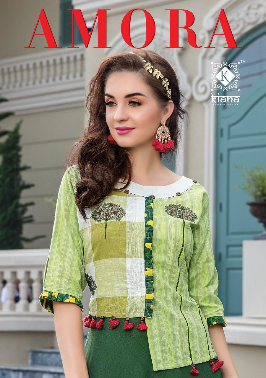 Kiana Amora Designer Stylish Party Wear Kurti With Bottom Collection