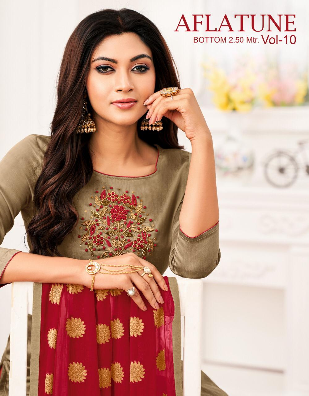 Aflatune Vol 10 Dress Material Catalog Collection