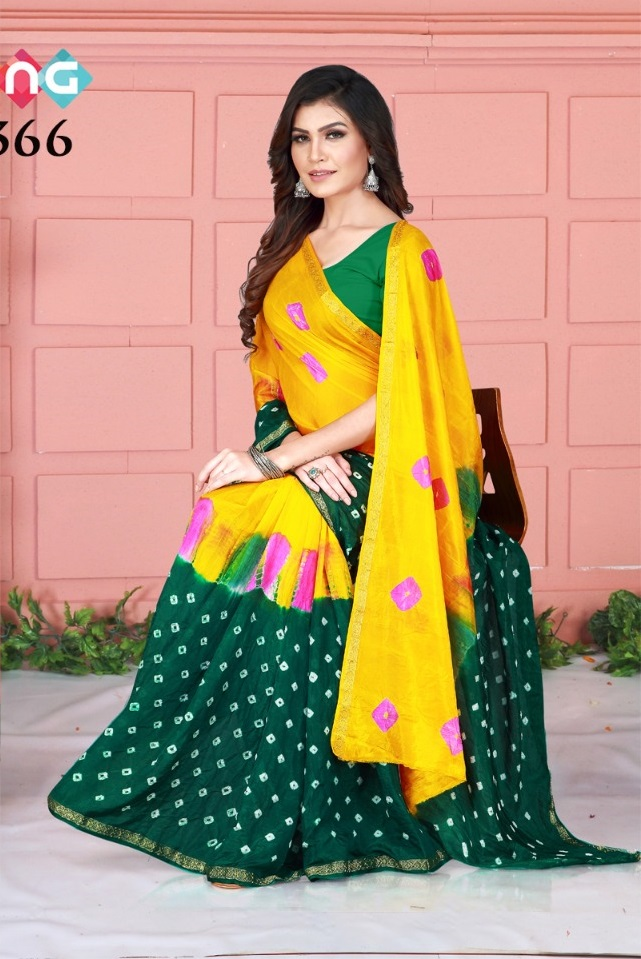 Rang Vol 42 Handicraft Bandhani Saree Collection By Fashion Dictionary