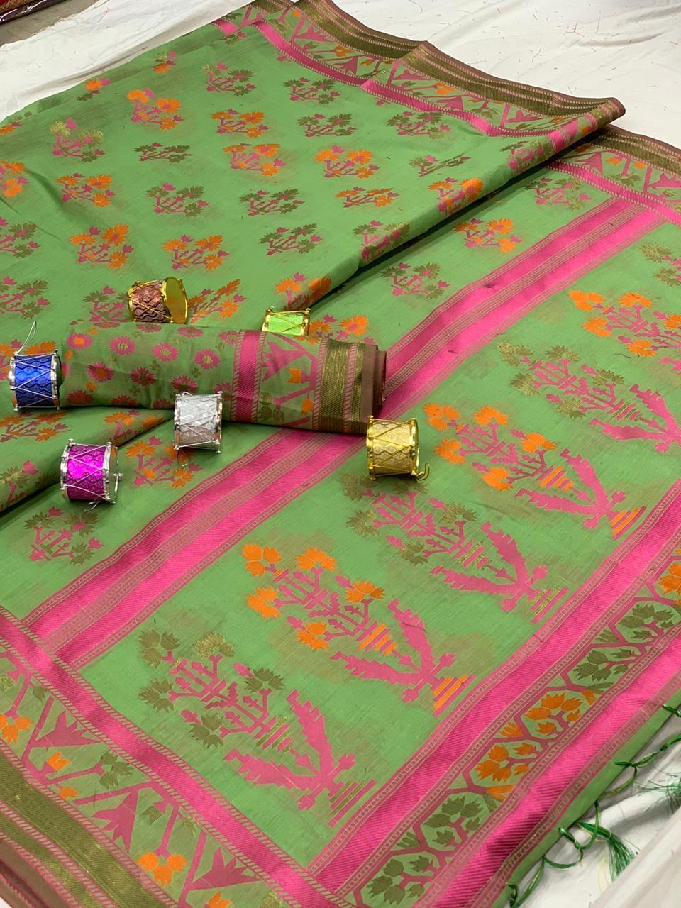 Nitya Cotton  Cotton Silk Saree Collection