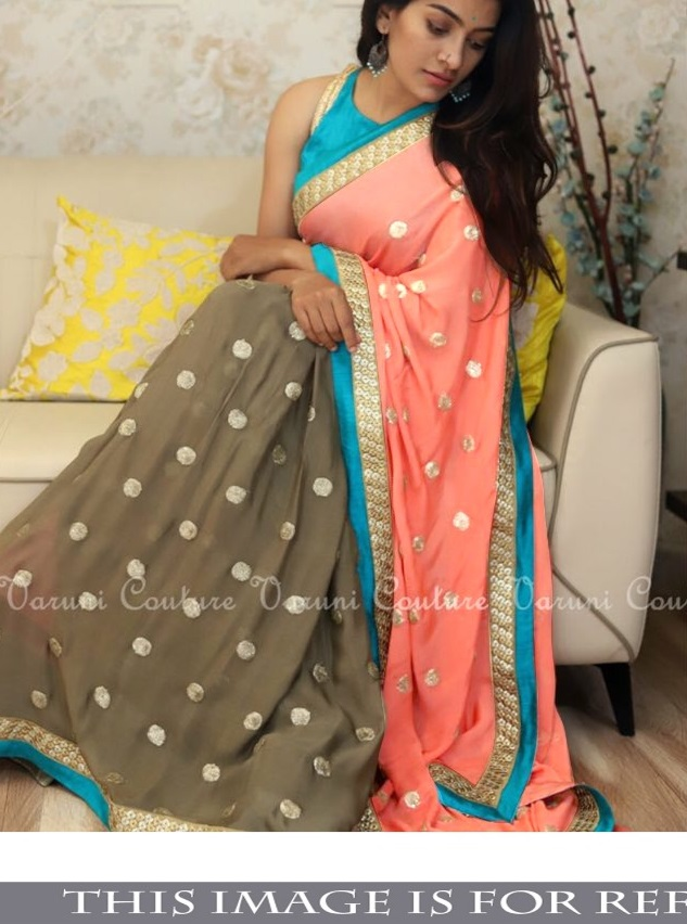 Nx 302 60Gm Georgette Fancy Thread With Sequence Work
