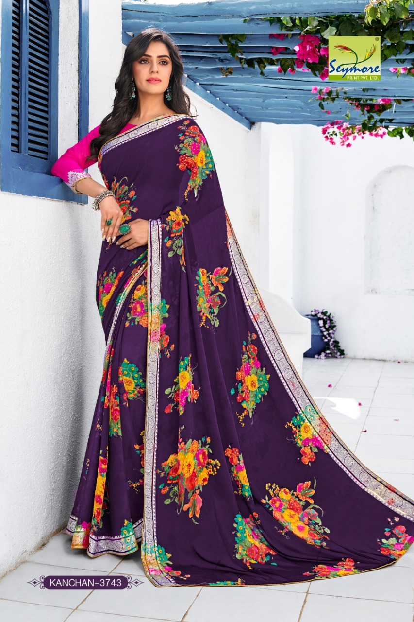 Seymore Print New Kanchan 9 Floral Print Partywear Saree Collection