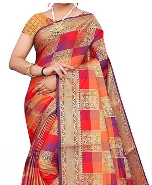 Banarasi Pure Zari Weaving Multicolored Saree Collection