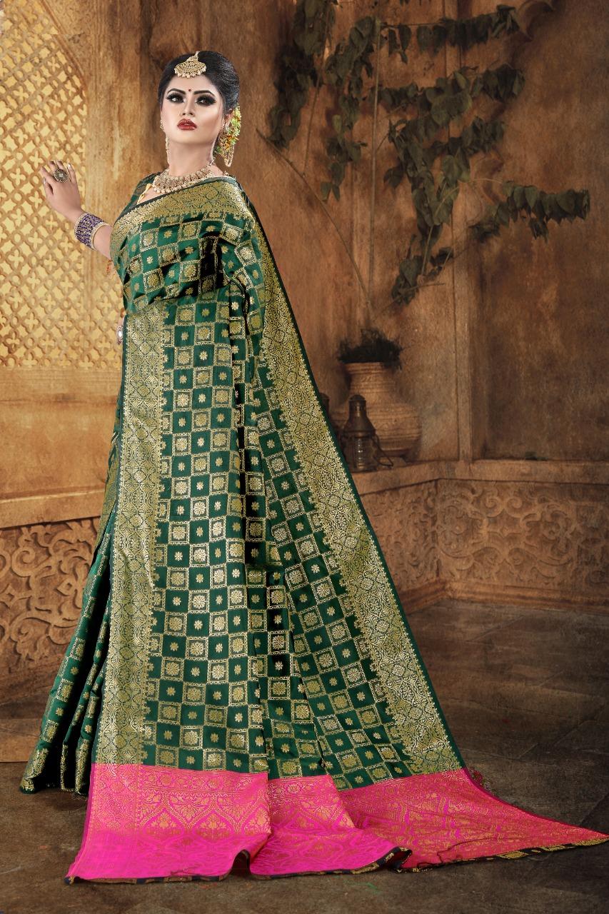 Fashion Dictionary Present New Banarasi Soft Silk With Zari Weaving Saree Collection