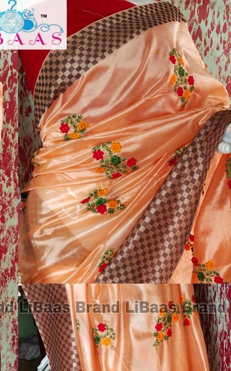 Libaas New Diva With Libaas Cotton Silk With Thread Flowers Embroidery Collection