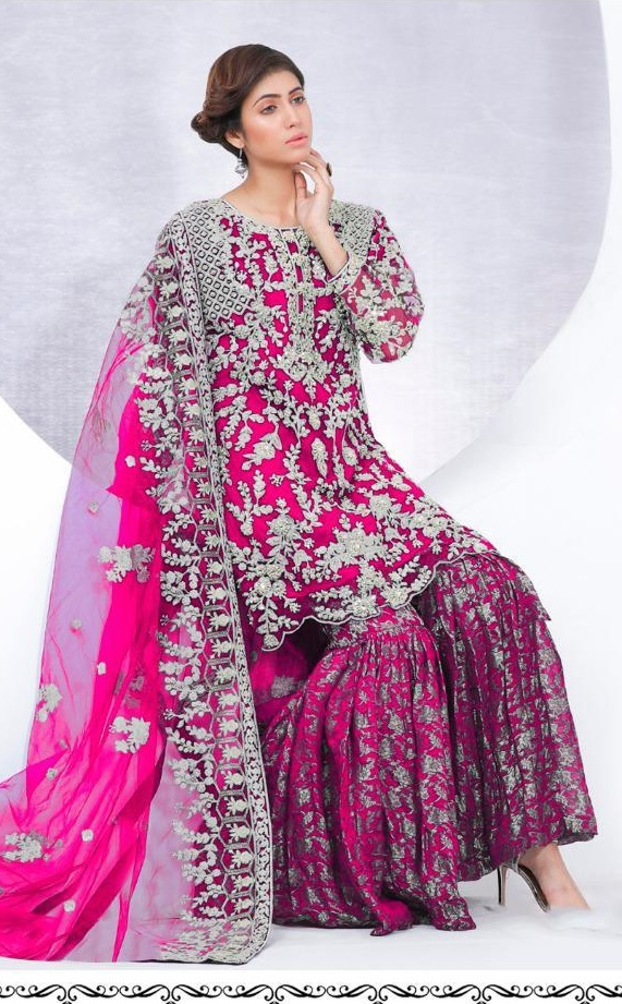 Ramsha Present R 155 Colour Nx Net With Heavy Embroidery Wedding Salwar Suit Collection
