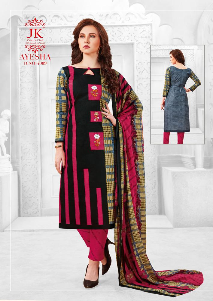 Jk Cotton Ayesha Vol 4 Cotton Dress Material Catalog Collection