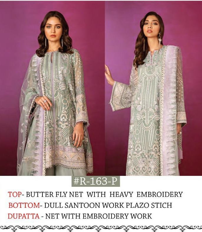 Ramsha R 163 P Butterfly Net With Heavy Embroidery Salwar Suit
