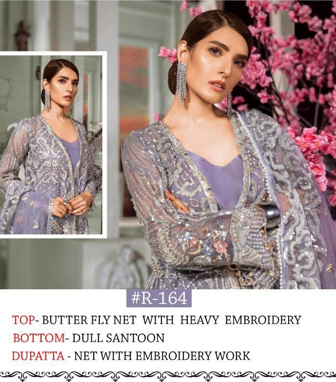 Ramsha R 164 Butterfly Net With Heavy Embroidery Salwar Suit