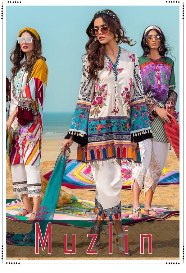 Deepsy Suits Muzlin Cotton Print With Embroidery Catalog Collection