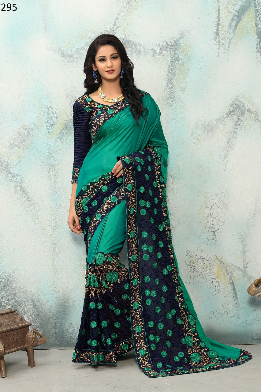Rubyza 6 Georgette With Embroidery Work Saree Collection