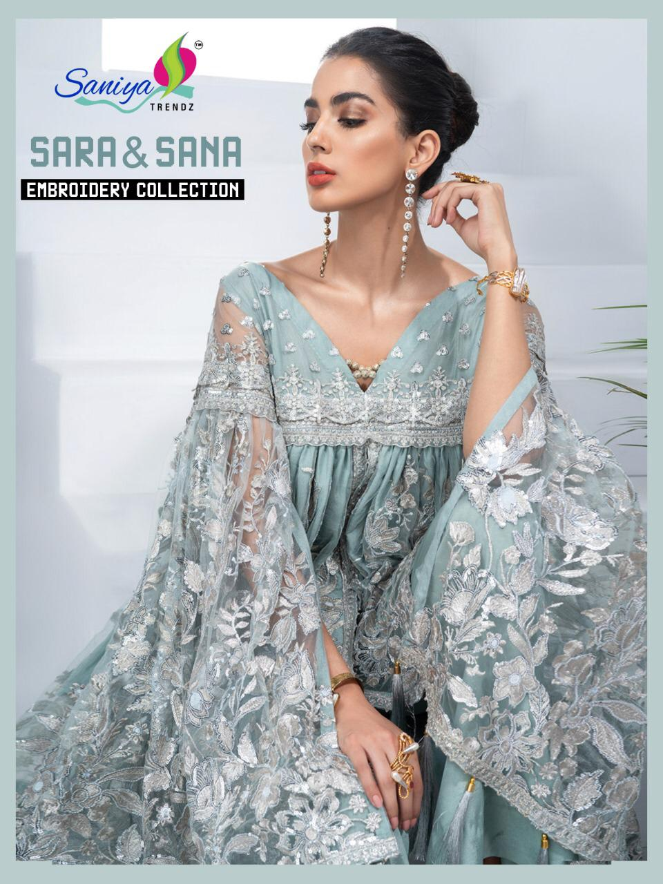Saniya Trendz New Sara And Sana Embroidery Pakistani Catalog Collection
