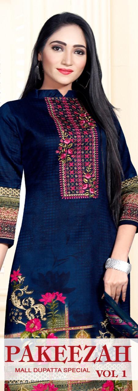Levisha New Pakeezah  Vol 1 Satin Cotton Printed Dress Material Collection