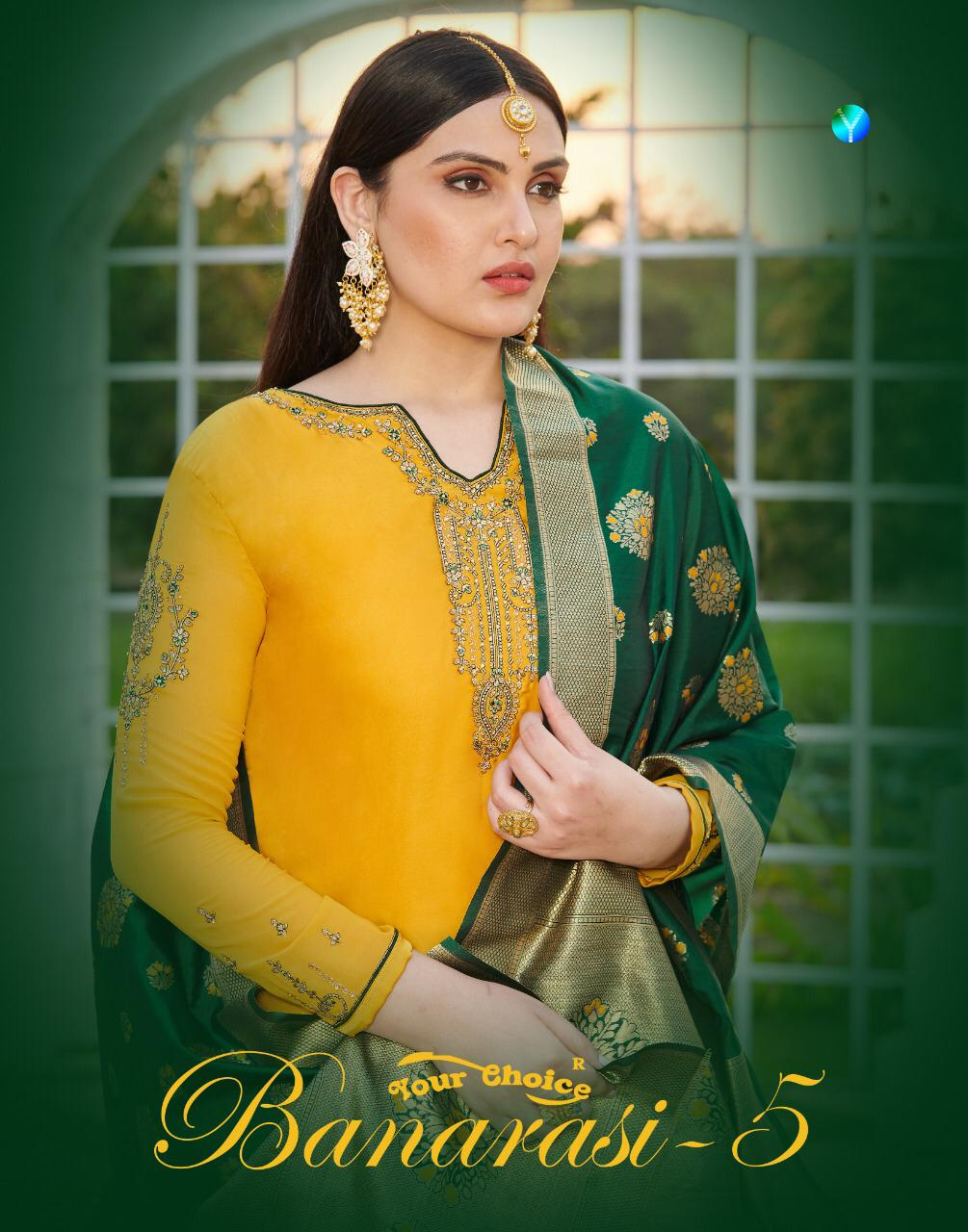 Your Choice Present New Banarasi Vol 5 Designer Georgette Salwar Suit Catalog Collection