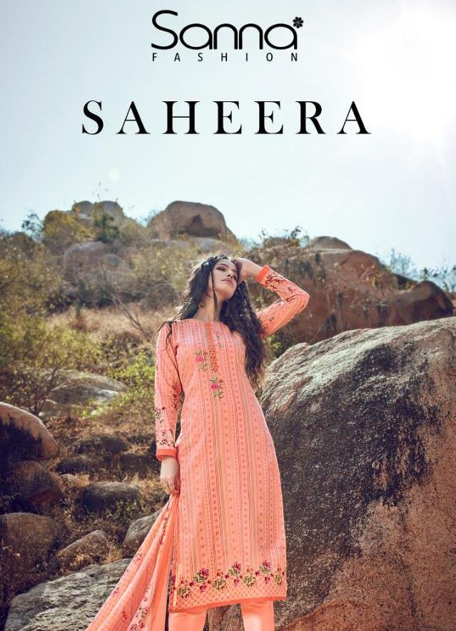 Sanna New Saheera Cotton Printed Salwar Suit Catalog Collection