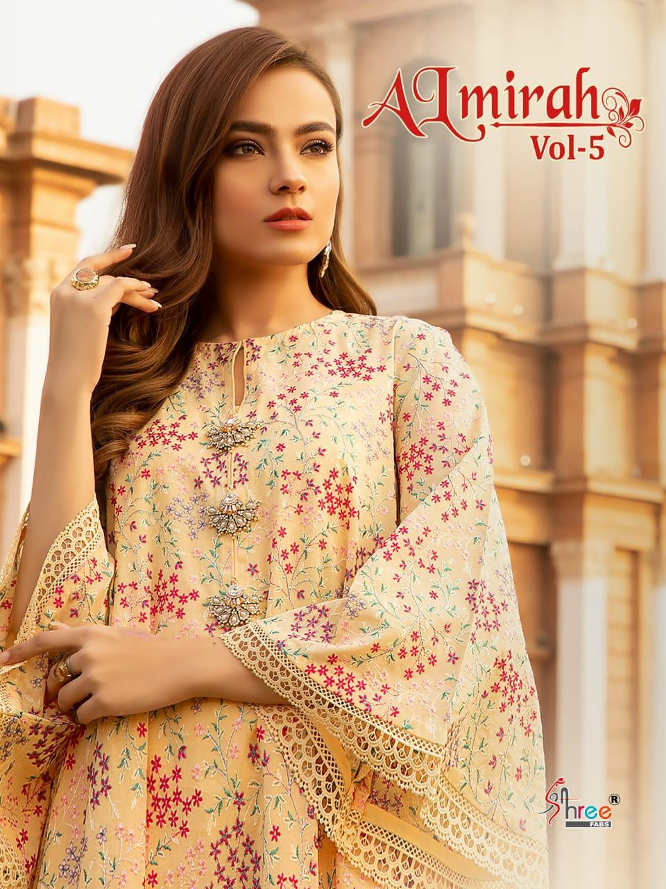 Shree Fab New Almirah Vol 5 Pure Lawn With Embroidery Catalog Collection