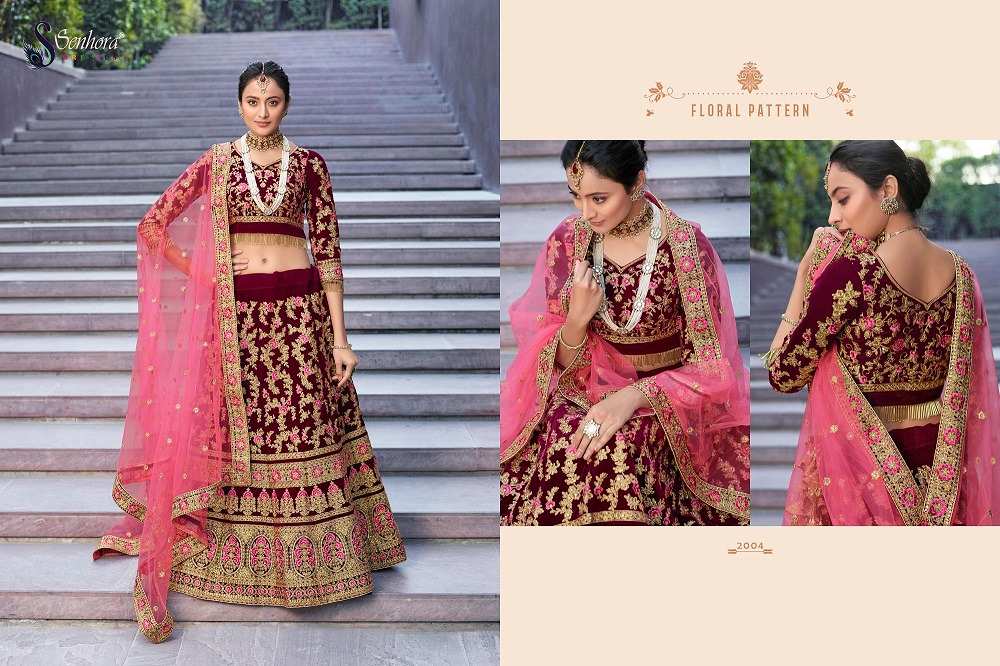 Senhora D.No. 2004 Latest Heavy Embroidered Bridal Lehenga Collection At Wholesale rate