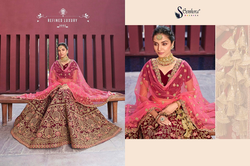 Senhora D.No. 2002 Latest Heavy Embroidered Bridal Lehenga Collection At Wholesale rate