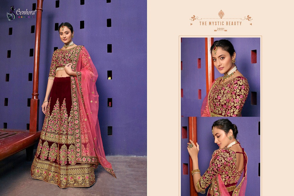Senhora D.No. 2001 Latest Heavy Embroidered Bridal Lehenga Collection At Wholesale rate
