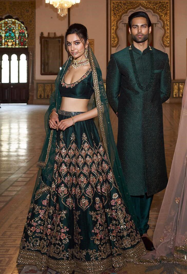 AE 1048 Heavy Embroidered Bridal Lehenga At Wholesale Rate