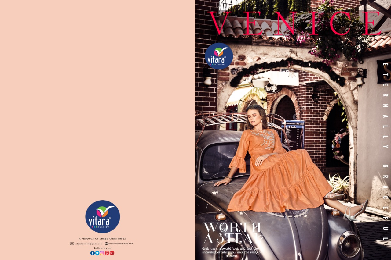 Vitara Fashion Venice Party Wear Anarkali Style Kurti At Wholesale rate