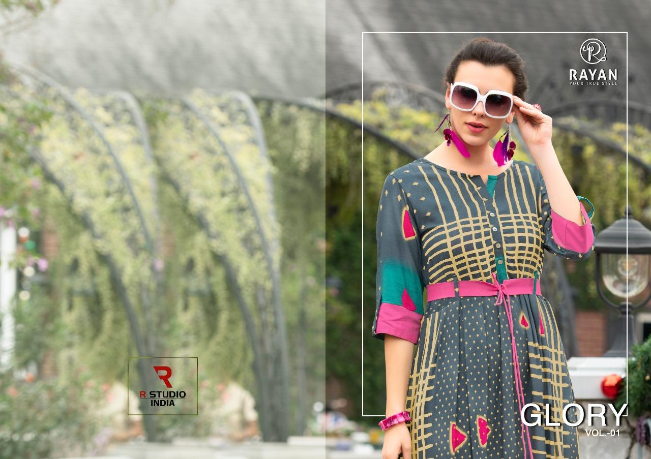 Rayan Glory  Fancy Rayon Printed Gown Style Classy Designer Cataloge at Wholesale rate