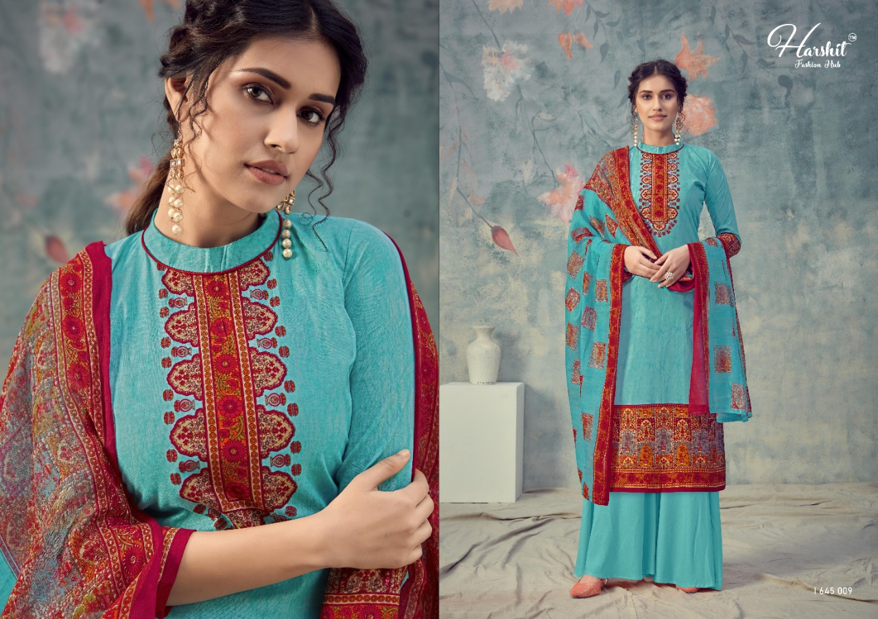 Harshit Fashion Sanjeeda Casual Wear Pure Cotton with Digital Print Dress Material Catalog at Wholesale rate