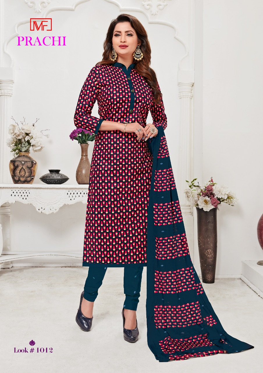 Madhav Fashion Prachi Casual Wear Pure Cotton Dress Material Catalog at Wholesale rate