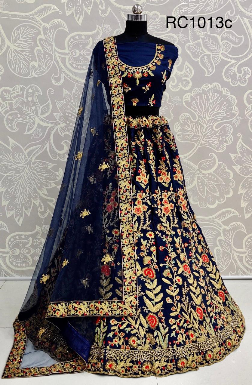RC1013c  Wedding Wear heavy  Bridal Net SAatin Silk  Lehenga Choli at Wholesale rate