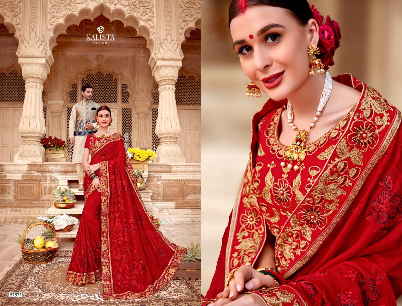 Thankar Kalista Mallika Burfi Silk with Embroidery Wedding Wear Saree Catalog at Wholesale rate