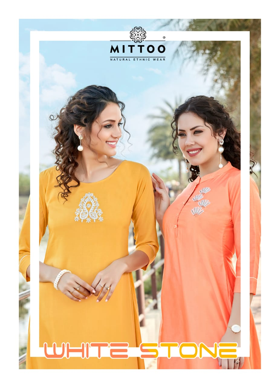 Mitto White Stone New Arrival Party Wear Pure Viscose with Khatli Work Cataloge at Wholesale rate