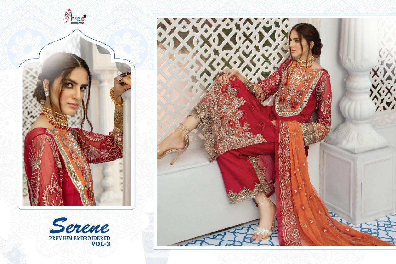 Shree Fabs Serene Premium Embroidred -03 Georgette Pakistani Salwar Suit Catalog at Wholesale rate